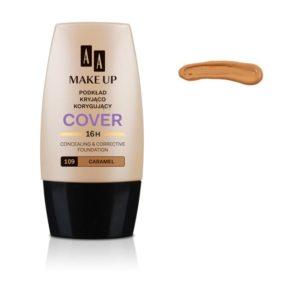 AA Make Up Cover Foundation podkład kryjąco korygujący 109 Carmel 30ml