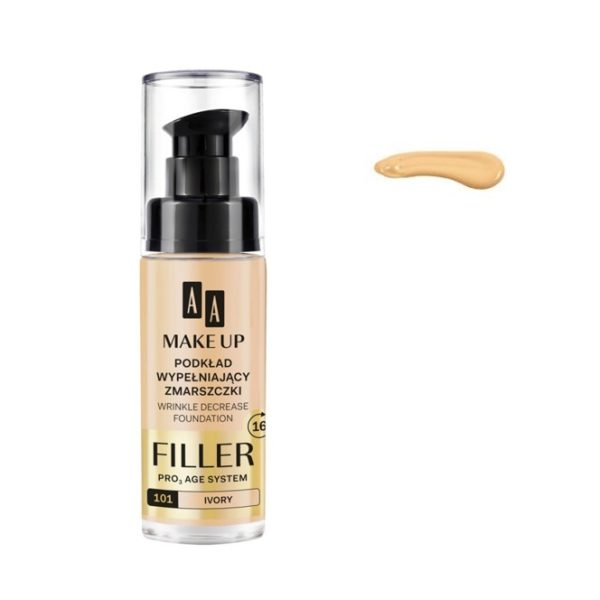 AA Make Up Filler Wrinkle Decrease Foundation Pro Age System podkład wypełniający zmarszczki 101 Ivory 30ml