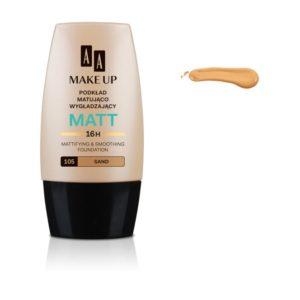 AA Make Up Matt Foundation podkład matująco wygładzający 105 Sand 30ml