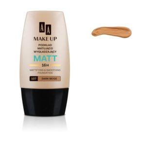 AA Make Up Matt Foundation podkład matująco wygładzający 107 Dark Beige 30ml