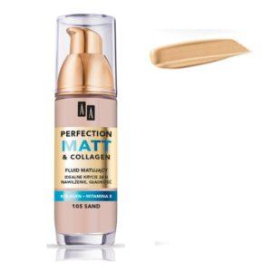 AA Perfection Matt & Collagen matujący podkład do twarzy 107 Dark Beige 35ml
