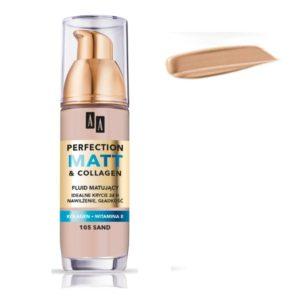 AA Perfection Matt & Collagen matujący podkład do twarzy 111 Coffee 35ml
