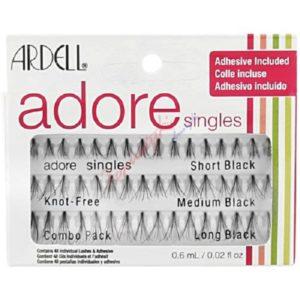 Ardell Adore Combo Pack zestaw kępki rzęs Short Black 16szt + kępki rzęs Medium Black 16szt + kępki rzęs Long Black 16szt