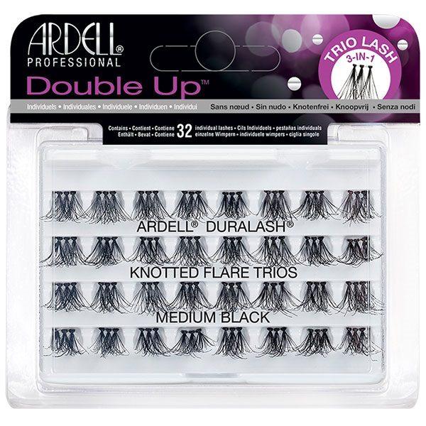 Ardell Double Up zestaw 32 kępek rzęs Medium Black
