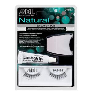 Ardell Rzęsy i akcesoria Natural Babies 1 para sztucznych rzęs Black + Lash Adhesive klej do rzęs 2