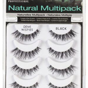 Ardell Rzęsy i akcesoria Natural Demi Wispies Multipack 4 pary sztucznych rzęs Black
