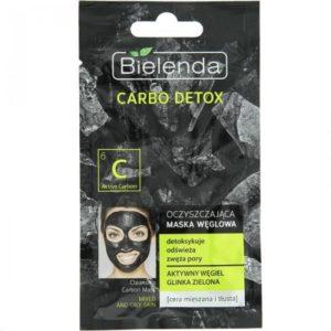 Bielenda Carbo Detox oczyszczająca maska węglowa dla cery mieszanej i tłustej 8g