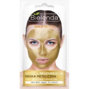 Bielenda Gold Detox detox&regeneracja maska metaliczna dla cery dojrzałej 8g