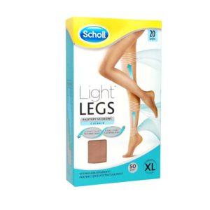 Light Legs rajstopy uciskowe 20 DEN cieliste  (XL)