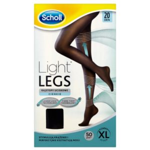 Light Legs rajstopy uciskowe 20 DEN czarne (XL)