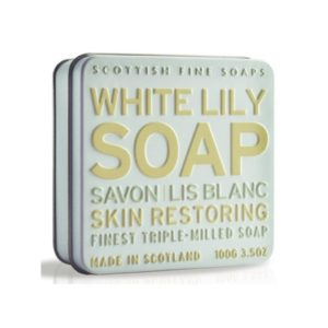 The Scottish Fine Soaps White Lily Soap In A Tin mydło w puszce 100g