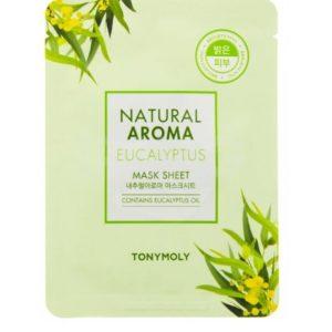 Tony Moly Natural Aroma Mask Sheet Eucalyptus nawilżająco-rozświetlająca maska do twarzy 21g