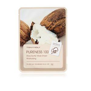 Tony Moly Pureness 100 Shea Butter Mask Sheet Moisturizing nawilżająca maska do twarzy z masłem shea 21ml