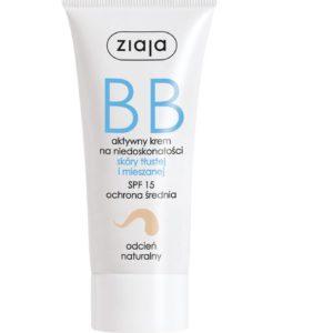 Ziaja BB krem do skóry tłustej i mieszanej odcień naturalny SPF15 50ml