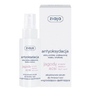 Ziaja Jagody Acai antyoksydacja serum do twarzy i szyi wygładzająco-ujędrniające 50ml