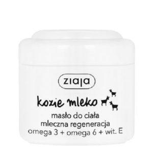 Ziaja Kozie Mleko masło do ciała mleczna regeneracja Omega 3 + Omega 6 + Witamina E 200ml