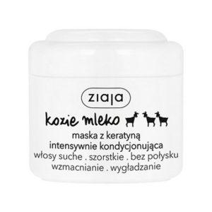 Ziaja Kozie Mleko maska do włosów intensywnie kondycjonująca z keratyną włosy szorstkie bez połysku 200ml