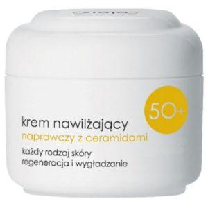 Ziaja Krem nawilżający naprawczy z ceramidami 50+ każdy rodzaj skóry na dzień SPF6 50ml