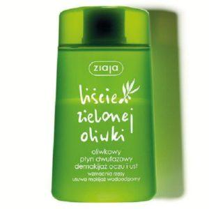 Ziaja Liście Zielonej Oliwki oliwkowy płyn dwufazowy do demakijażu twarzy i ust 120ml